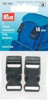 Prym 2 Steckschnallen Schnalle schwarz 16mm 001