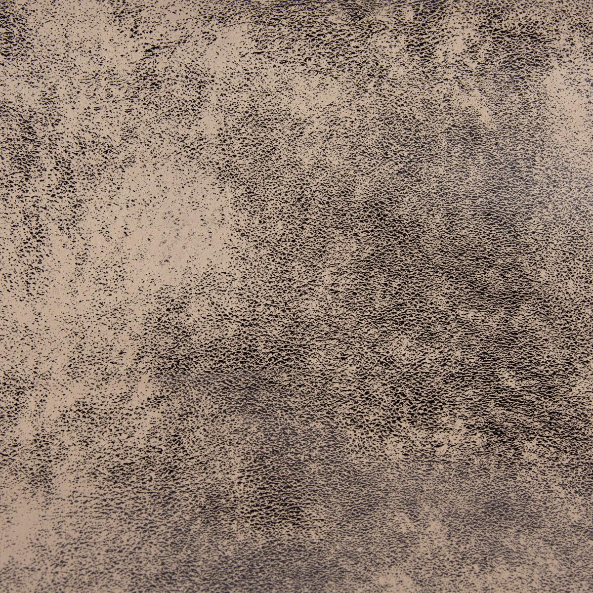 Kunstleder Lederimitat Wildlederoptik beige schwarz-glänzend 1,4m Breite
