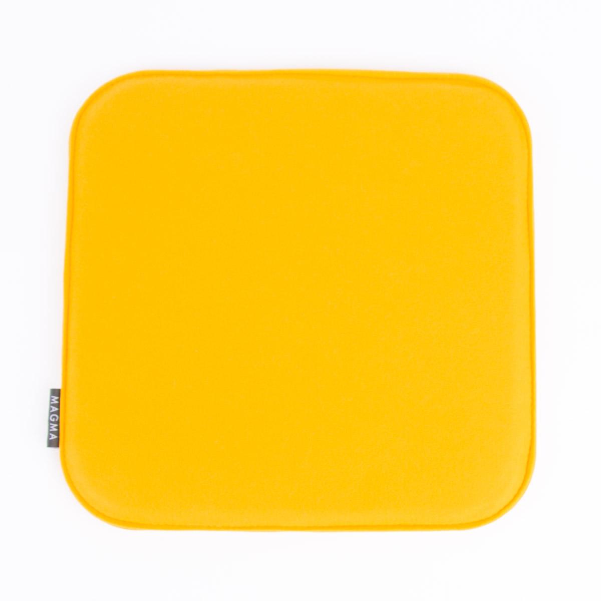 Magma Stuhlkissen AVARO Filz eckig senf gelb 35x35x2cm
