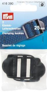 Prym 2 Klemmschnalle Leiterschnalle 25mm schwarz