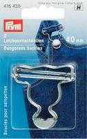 Prym Latzhosen Schnalle Verschluß 40mm silber 001