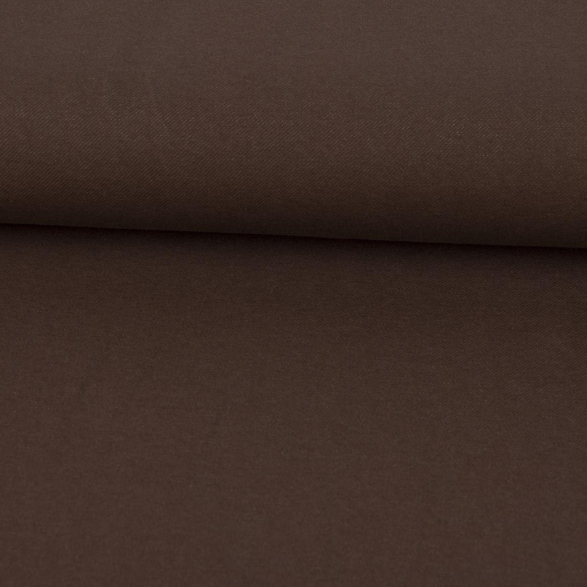 Baumwoll-Jeansstoff mit Elasthan Stretchjeans-Stoff weich einfarbig braun 1,5m Breite