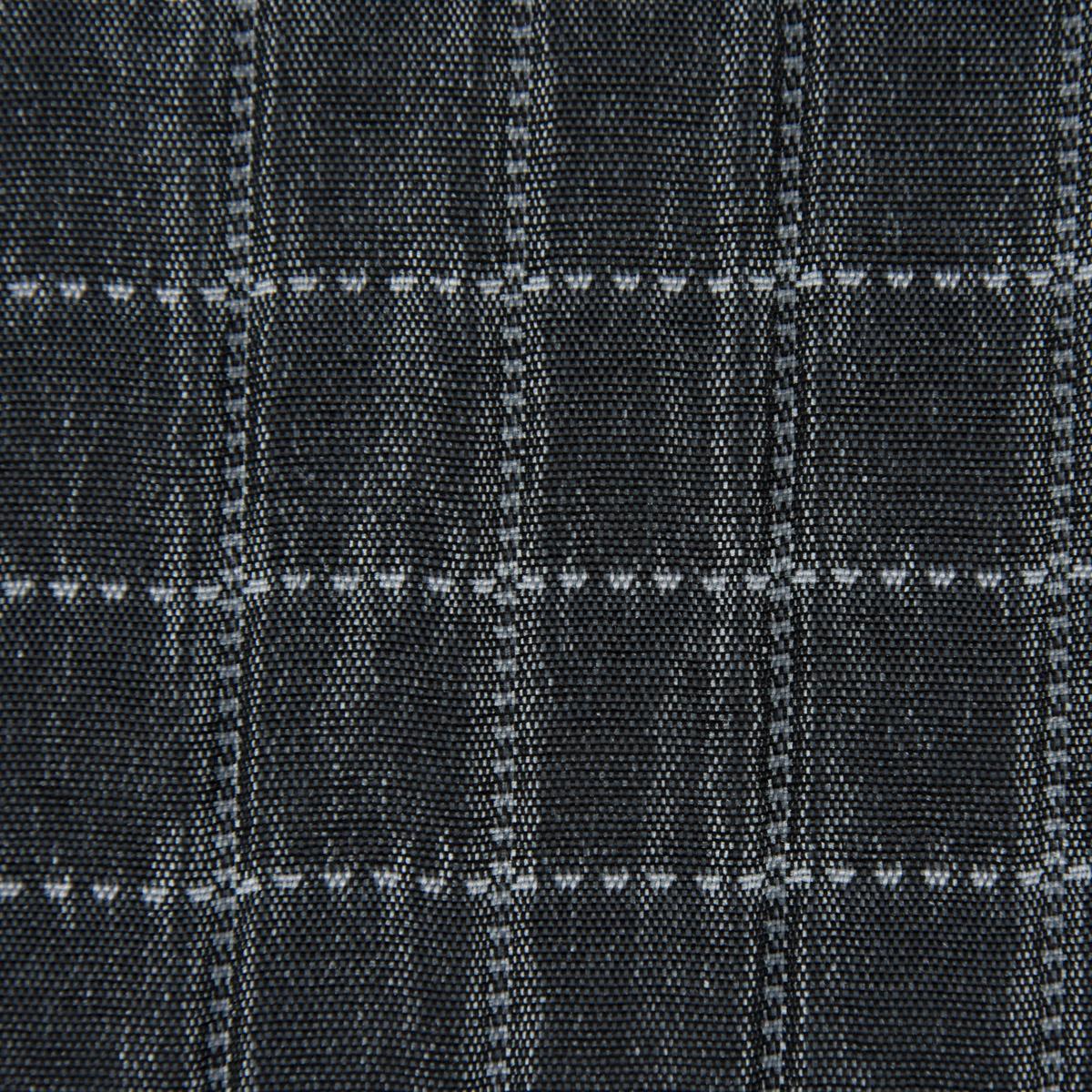 Dekostoff Plaidstoff Steppstoff Überwurf Fliesen Quadrate überbreit graublau weiß 2,80m Breite