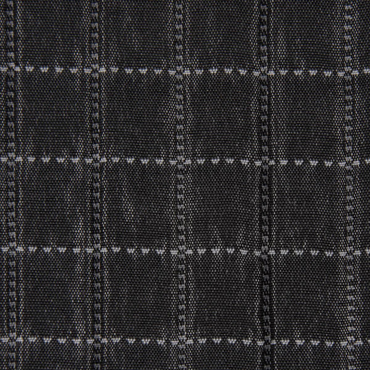 Dekostoff Plaidstoff Steppstoff Überwurf Fliesen Quadrate überbreit anthrazit weiß 2,80m Breite