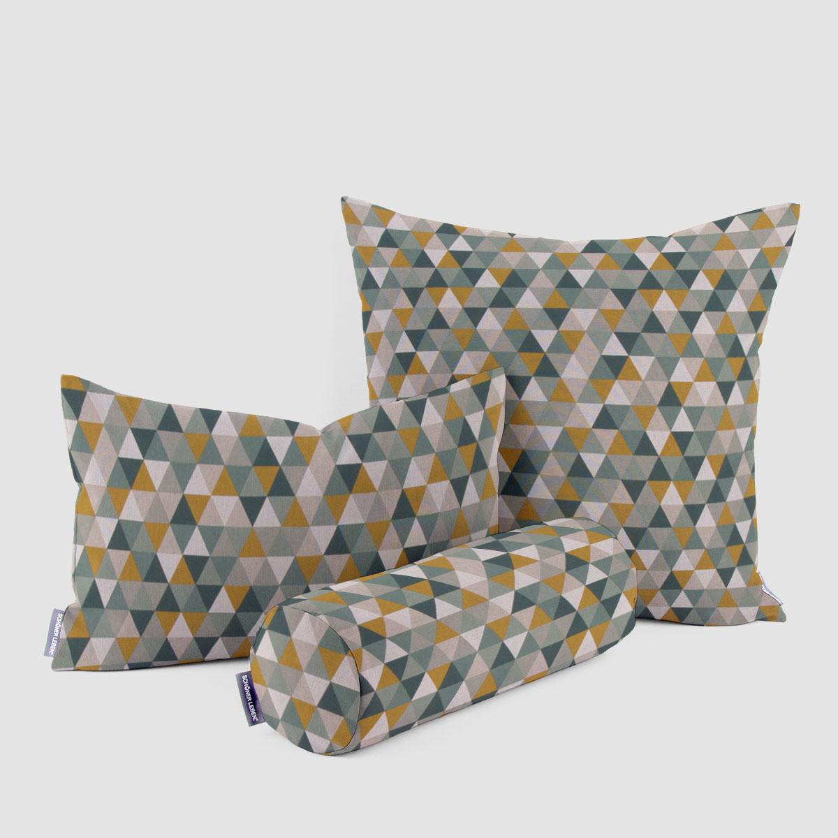 Mode Gelb Dreieck Geometrisch Kissenbezüge Bestickte Baumwolle Kissenhülle