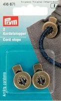 rym 2 Kordel Stopper Kordelstopper rund altmessing