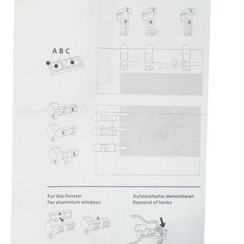 Klemmträger Träger für Vitragenstangen weiß 2Stück – Bild 3