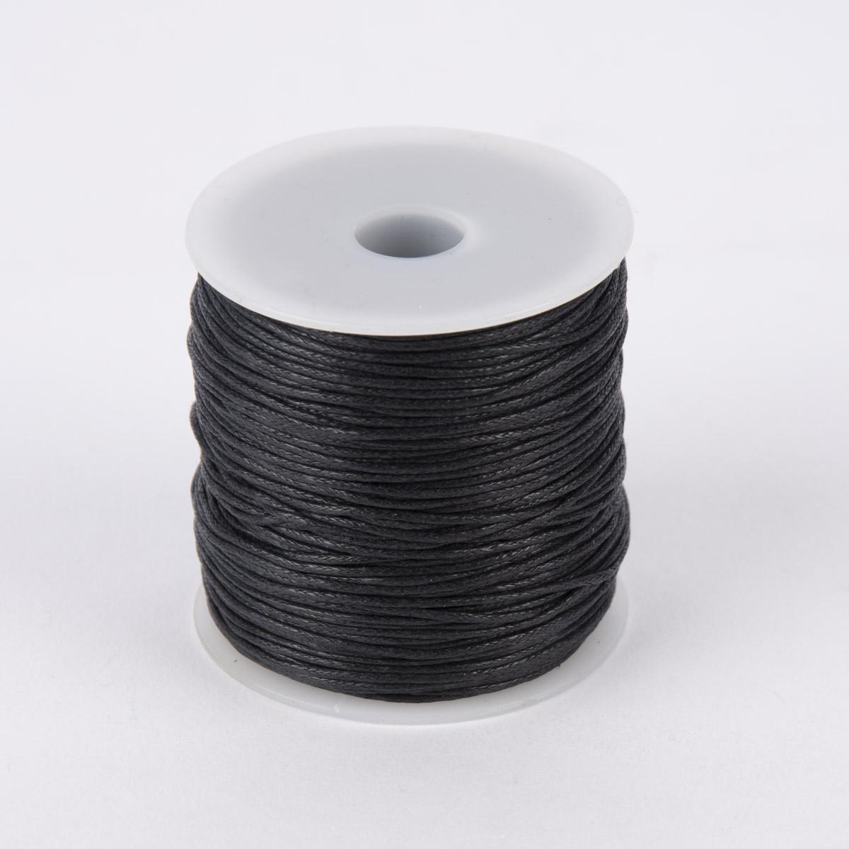 Creativ Company Baumwollband gewachst 1mm schwarz 100m