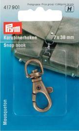 Prym Karabinerhaken 7/38mm altmessing