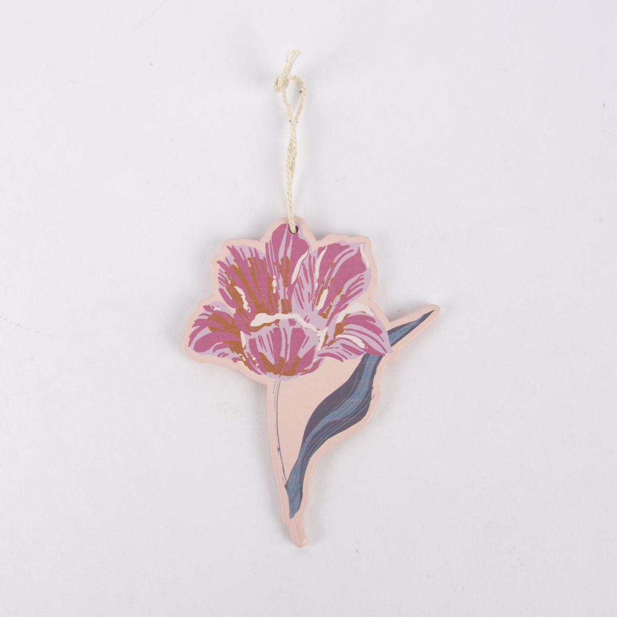 Rico Design Dekohänger Blume dunkelrot rosa 8x10cm