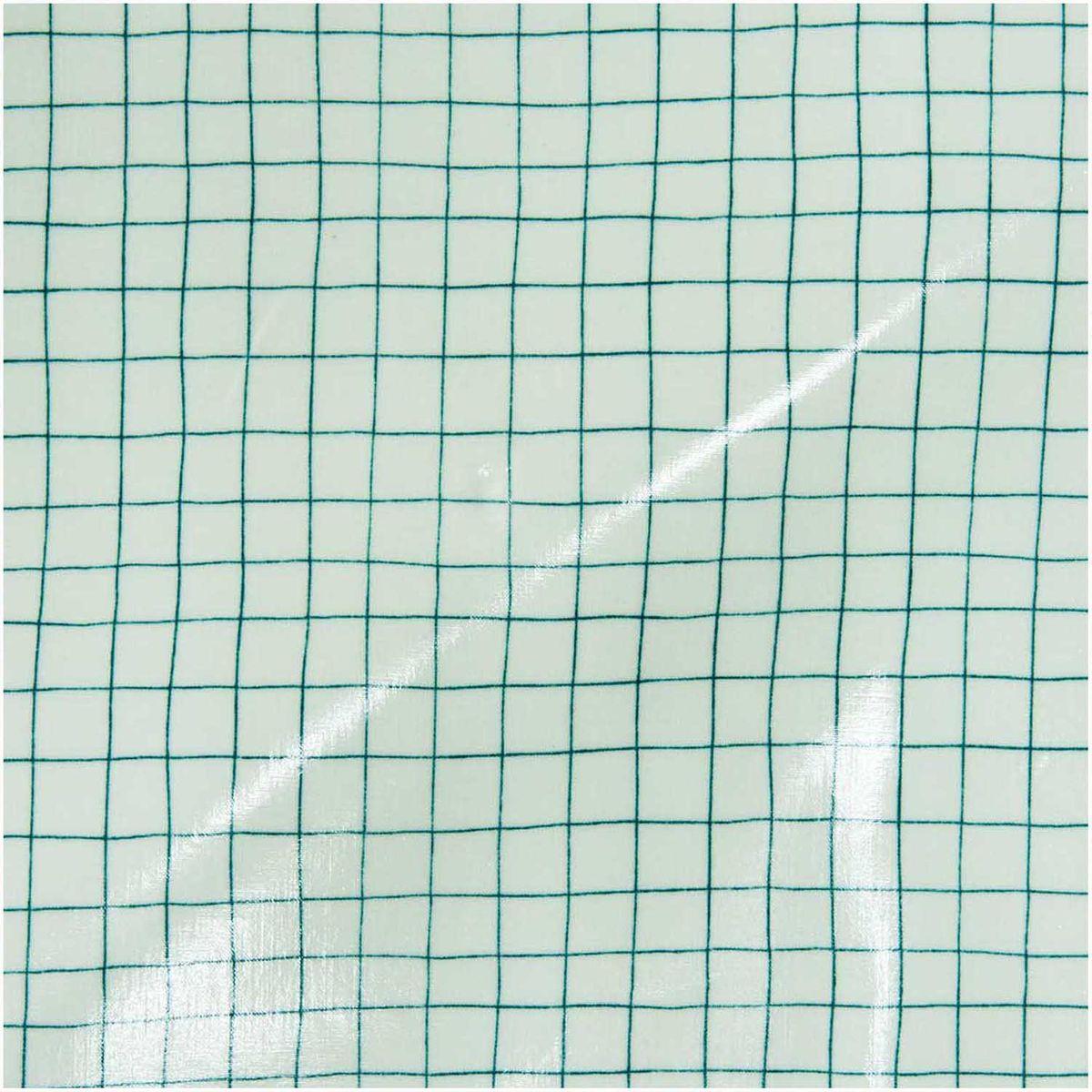 Rico Design beschichtete Baumwolle Stoffabschnitt Gitter Karo mint grün 25x70cm