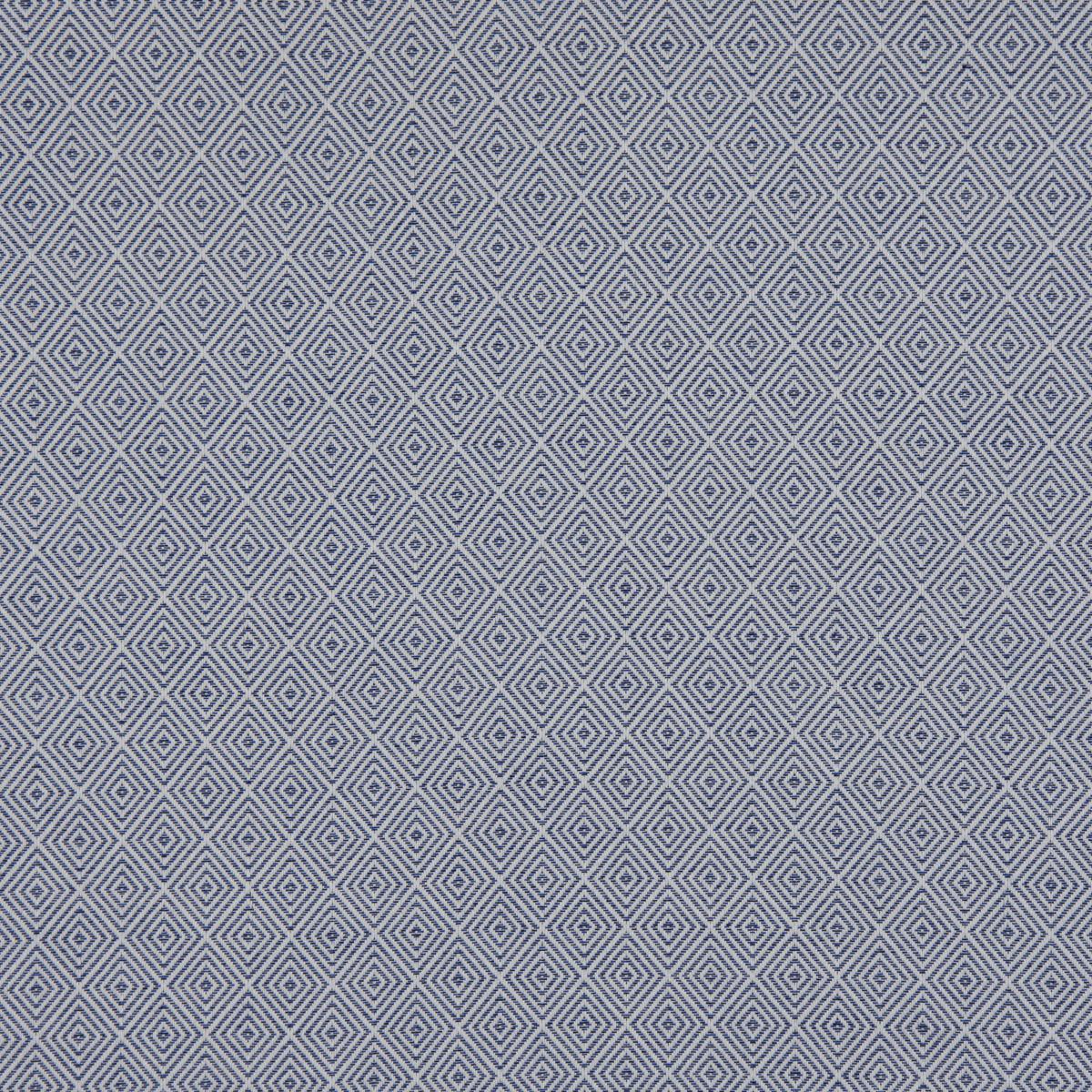 Outdoorstoff Dralon Jacquard Teflonbeschichtung Rauten blau creme 1,40m Breite