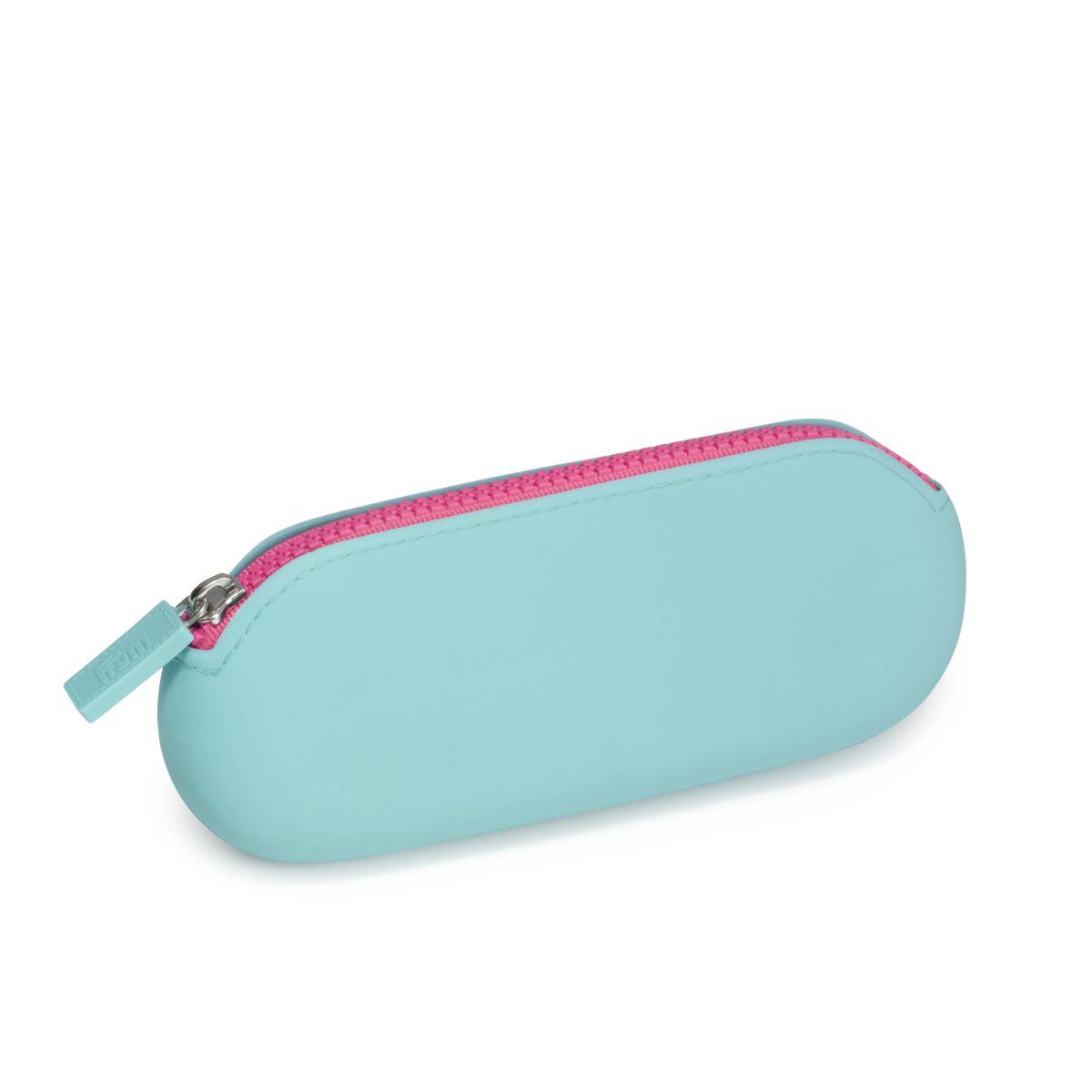 Prym Love Soft Etui Candy türkis pink Silikon 19x9x2,5cm