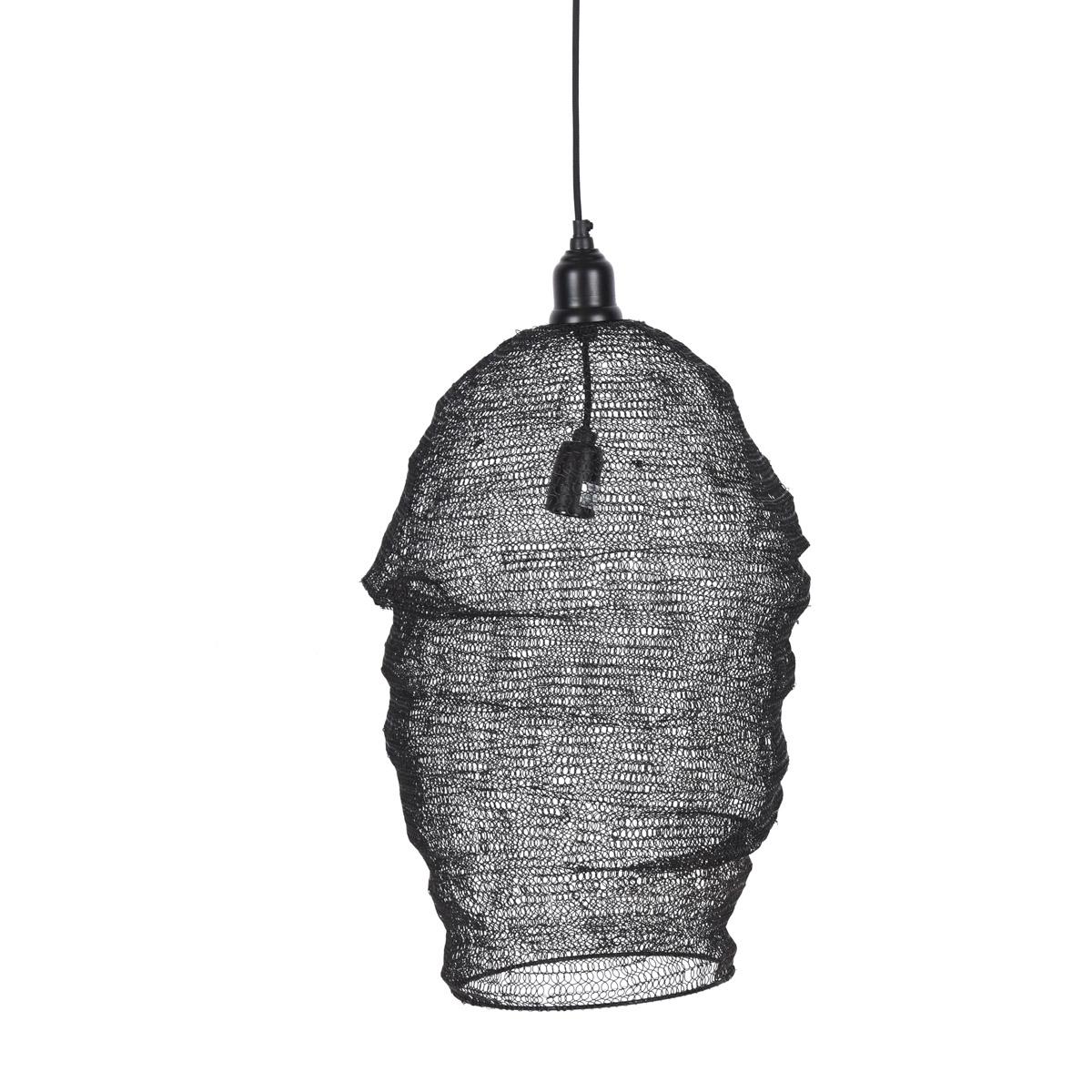 Pendelleuchte Maschen Metall schwarz 40x57cm