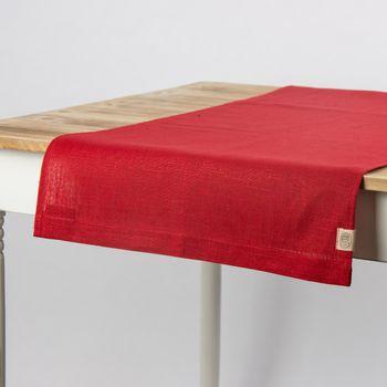Leinentischläufer Tischläufer Erik 1-lagig 47x150cm rot – Bild 2