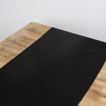 Leinentischläufer Tischläufer Erik 1-lagig 47x150cm schwarz – Bild 9
