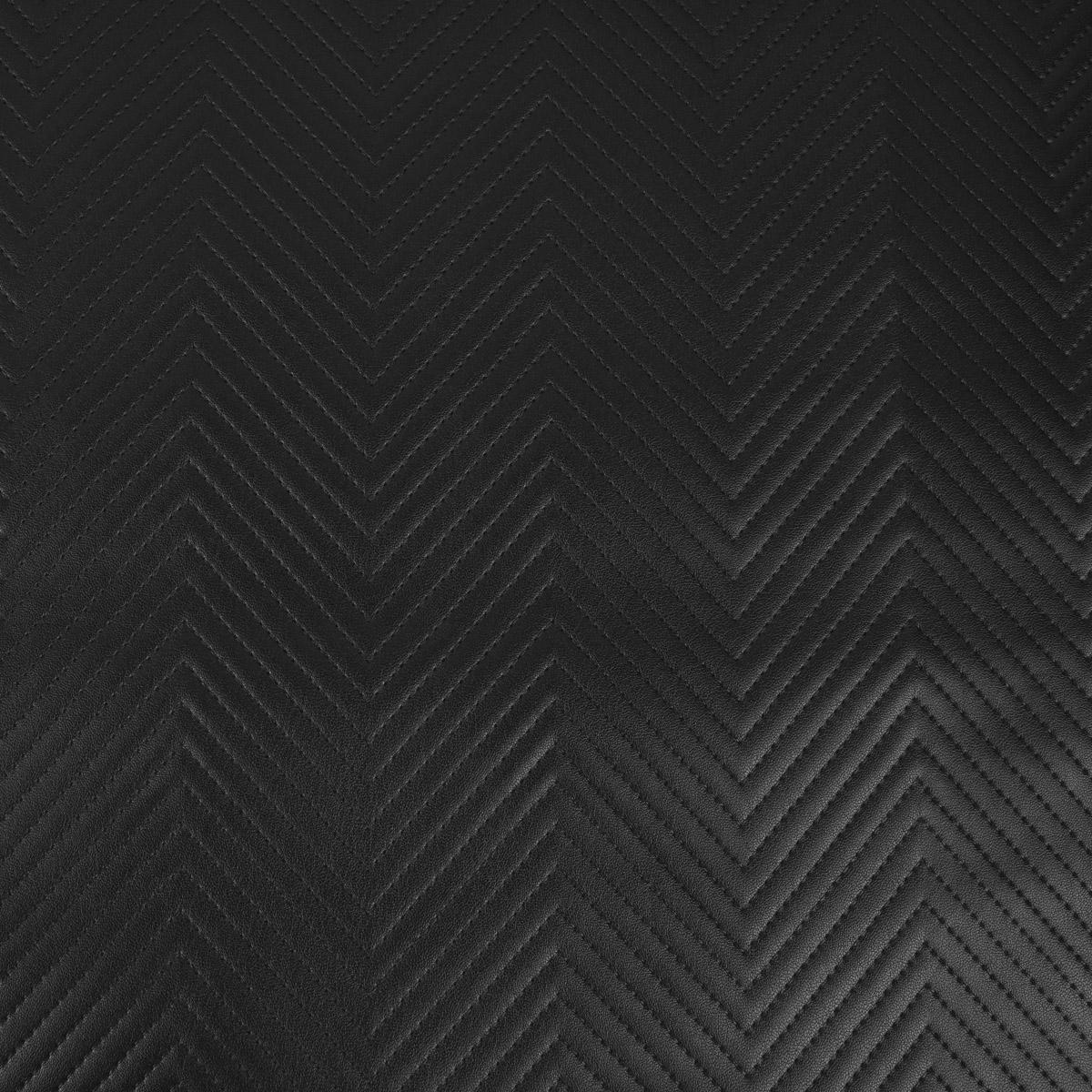Kunstleder Lederimitat Steppung Zickzack schwarz 1,4m Breite