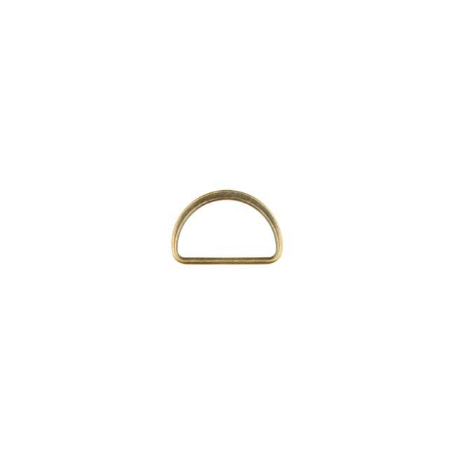 D-Ringe Metall Halbrund-Ring messingfarbig 25mm, 2Stk