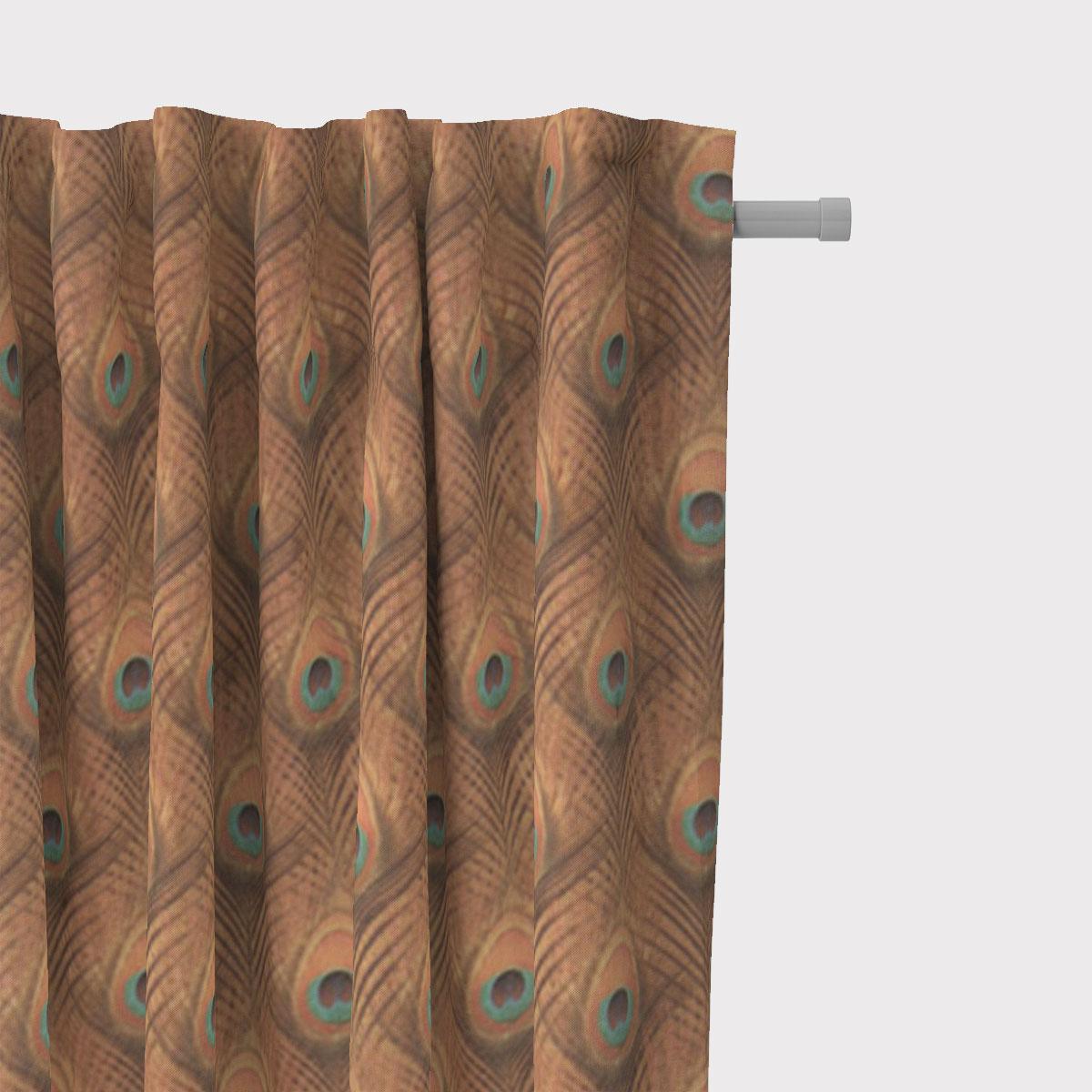 SCHÖNER LEBEN. Vorhang Velvet Deluxe Samt Pfauenauge Pfauenfeder ocker gold 245cm oder Wunschlänge