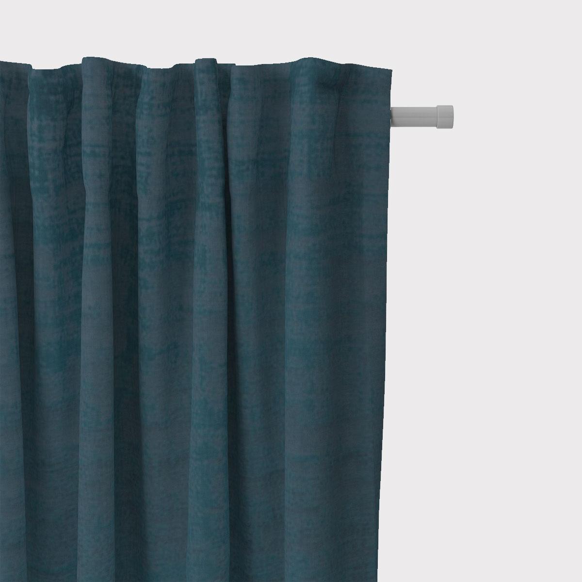SCHÖNER LEBEN. Vorhang Velvet Marble Samt mit Struktur uni blau 245cm oder Wunschlänge