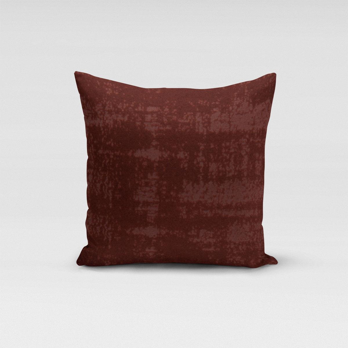 SCHÖNER LEBEN. Kissenhülle Velvet Marble Samt mit Struktur uni bordeaux rot verschiedene Größen