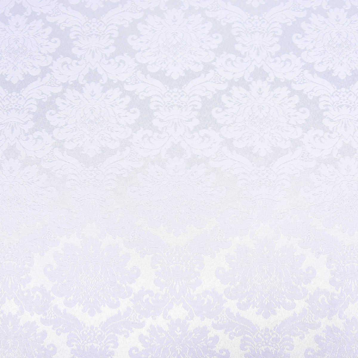 Tischwäschestoff Jacquard Dekostoff Versalles Damast Ornamente weiß 1,4m Breite