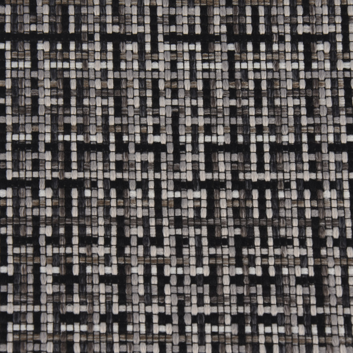 Bezugsstoff Möbelstoff Polsterstoff Mosaico grau schwarz 140cm breit