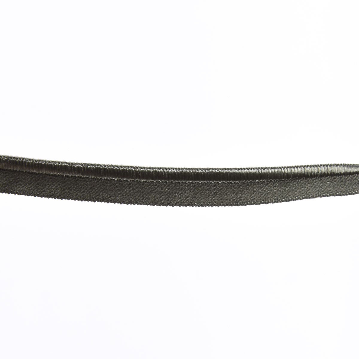 Paspelband Gummipaspel elastisch schimmernd Meterware army grün Breite: 1cm