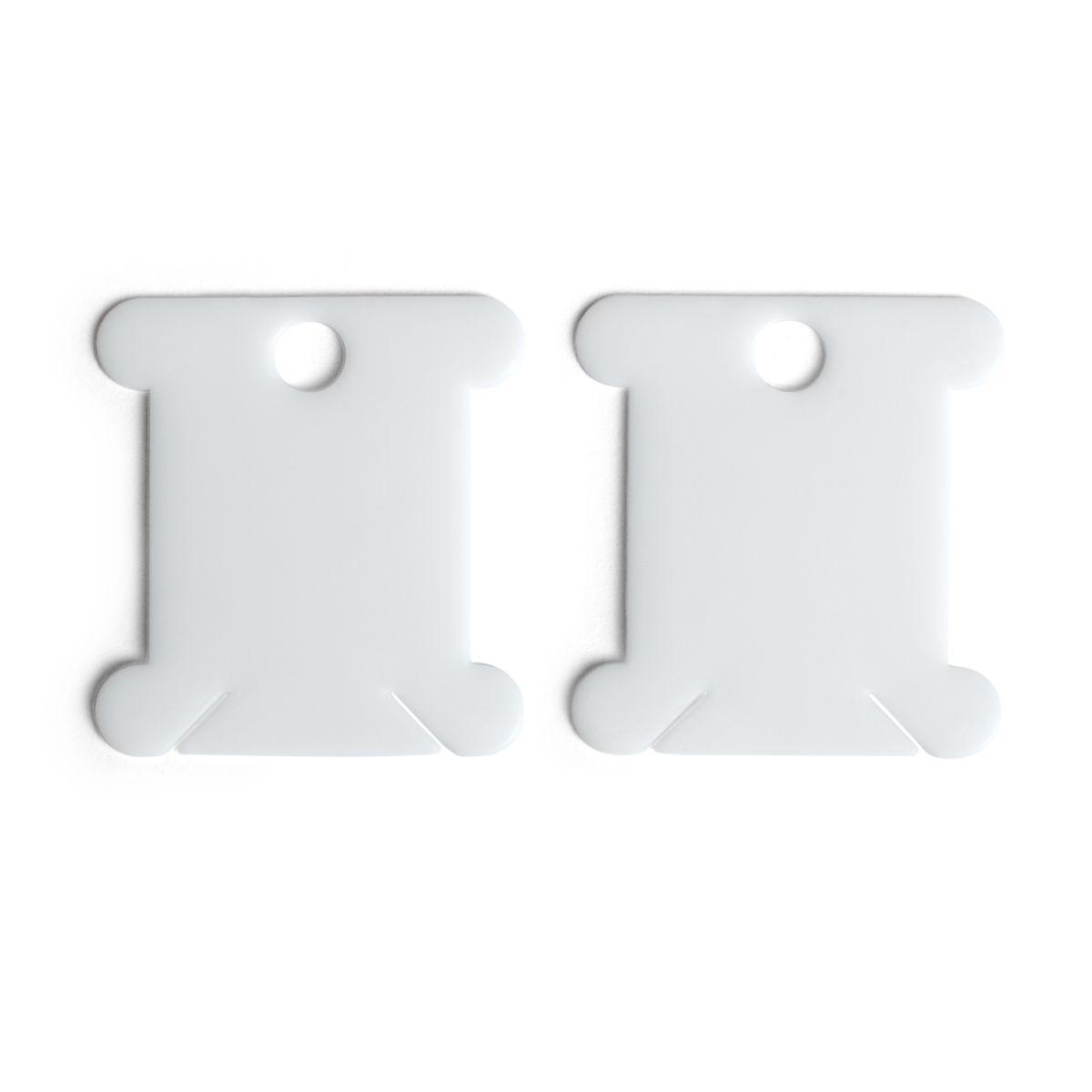 Prym Garnwickelkarten Kunststoff weiß 4x3,5cm
