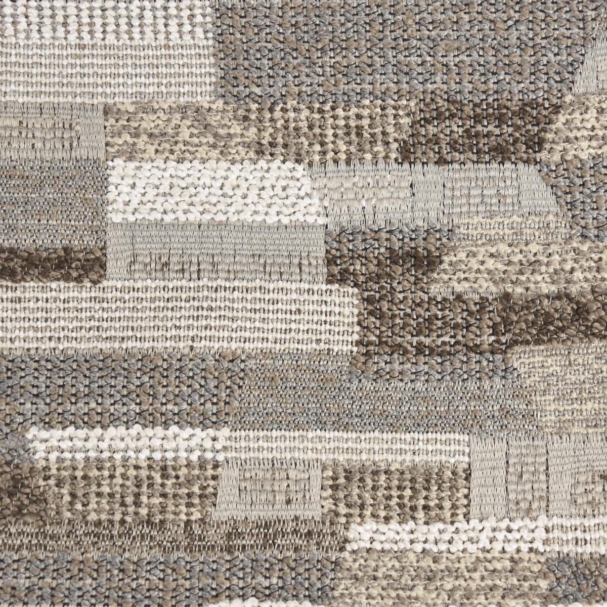 Bezugsstoff Möbelstoff Polsterstoff Flachgewebe Angelique grau braun 140cm breit