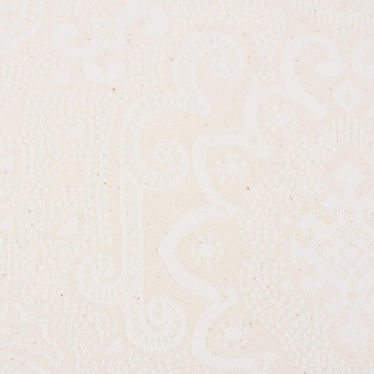 Tischdeckenstoff Damast Tischwäschestoff Dekostoff Ornamente natur 1,6m Breite