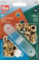 Ösen und Scheiben MS goldfarbig 8,0 mm