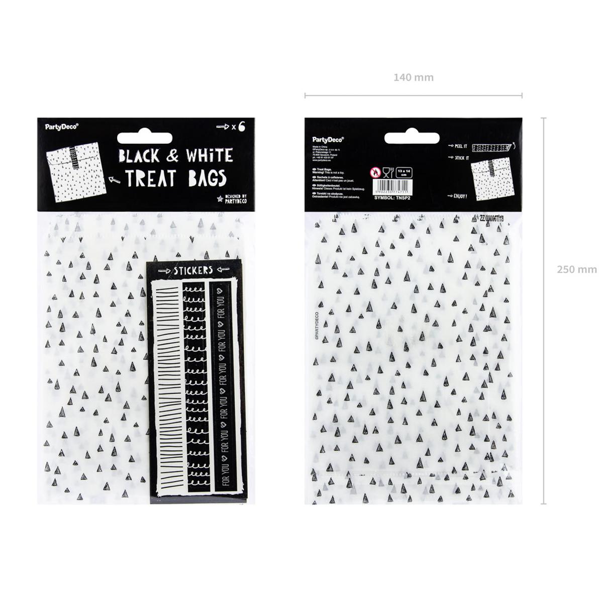 Weihnachts-Geschenktüten Papier mit Stickern 13x14cm 6er Set
