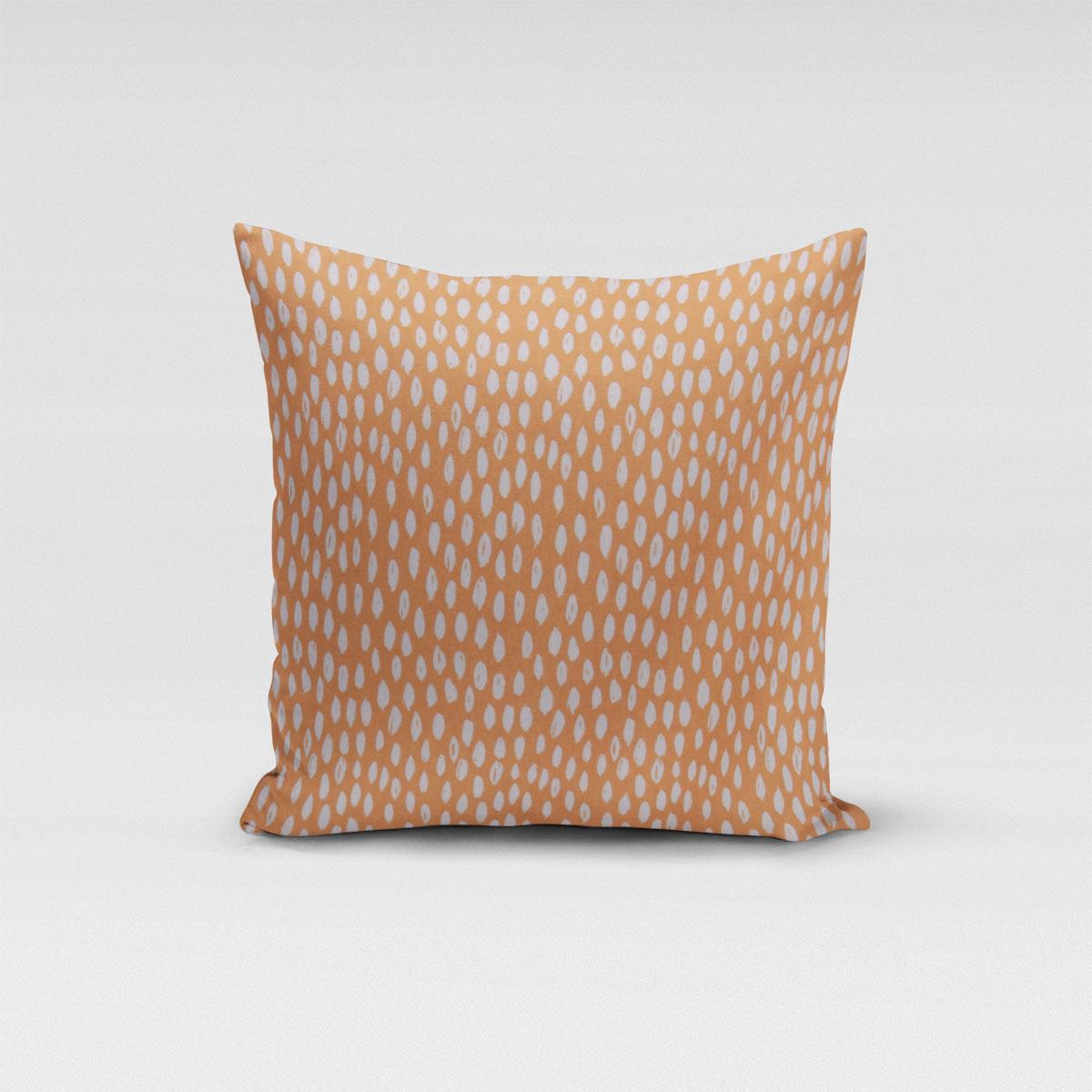 SCHÖNER LEBEN. Kissenhülle Bayside Tupfen Pinselstriche orange weiß verschiedene Größen