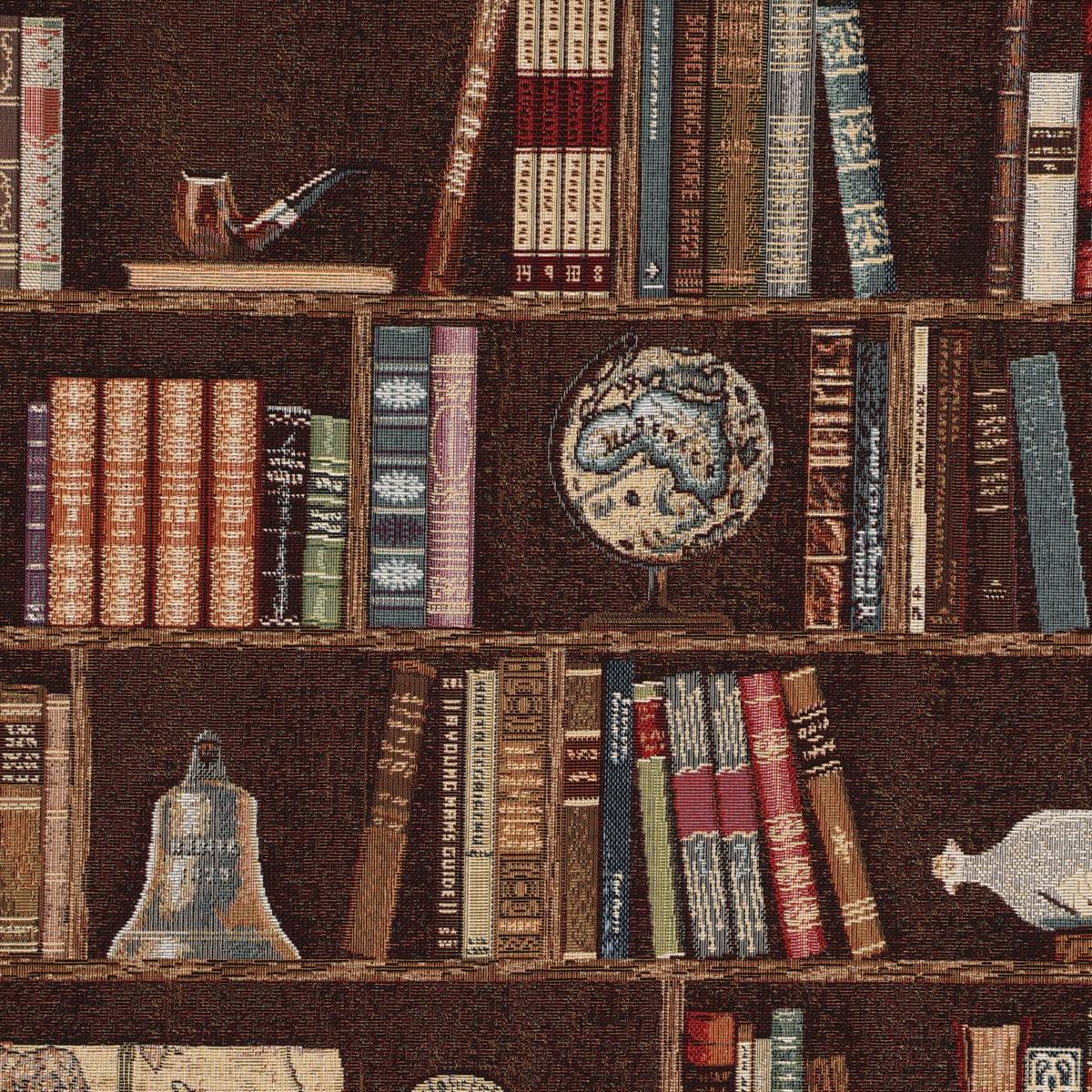 Dekostoff Gobelin Premium Bookshelve Marine Bücherregal Nautik 1,4m Breite