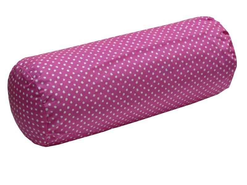 [Paket] Vom Hof Nackenrolle Nackenkissen mit Füllung Dinky Dots 15x40cm Punkte pink