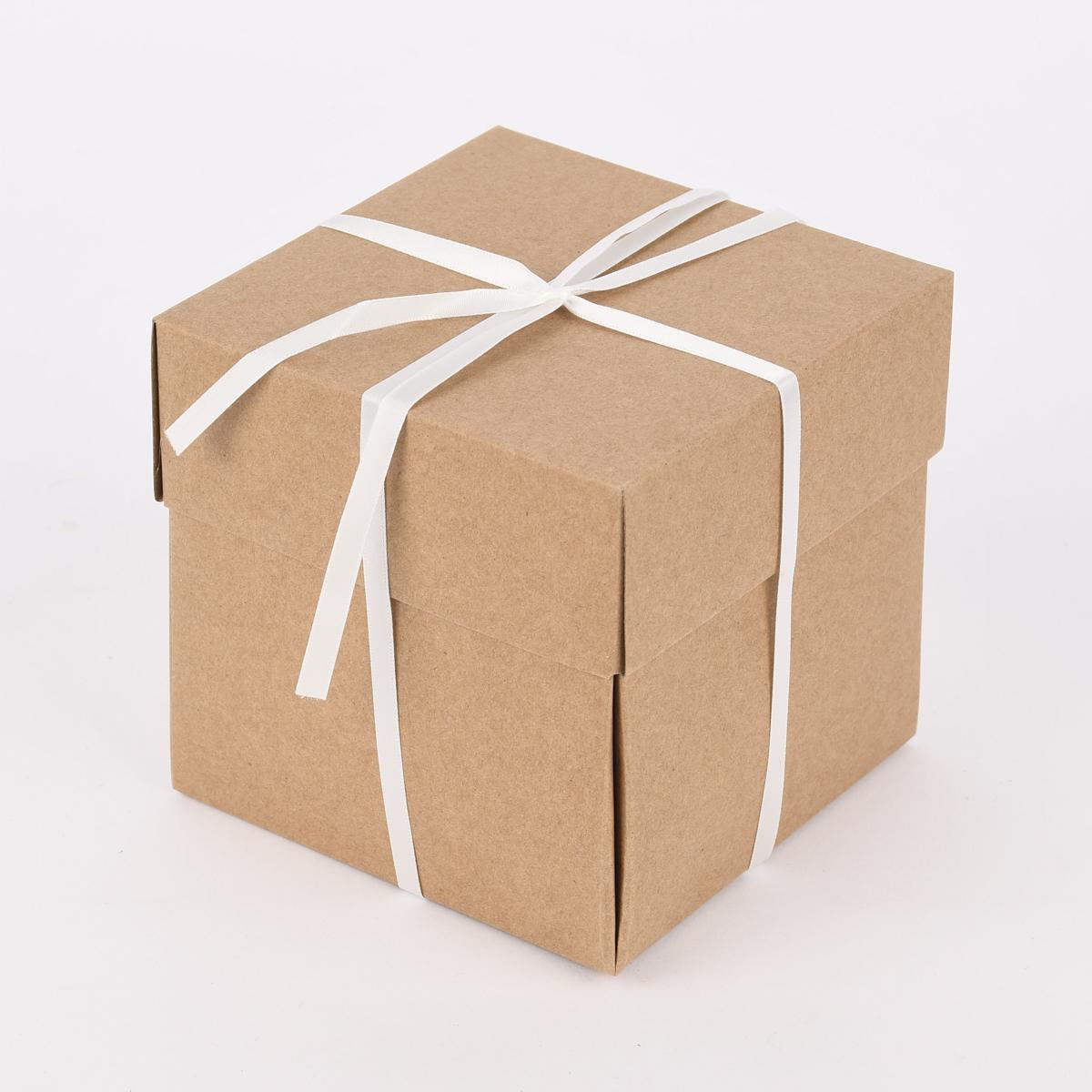 Creativ Company Geschenkbox Explosionsbox natur 12x12x12cm
