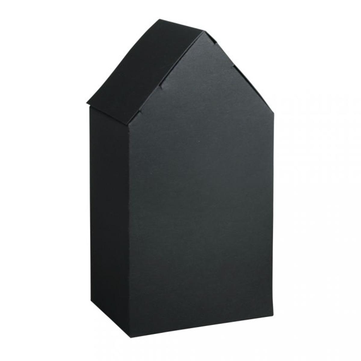 Rayher Geschenkboxen Faltschachteln Haus 3 Stück schwarz 10x7,5x20cm