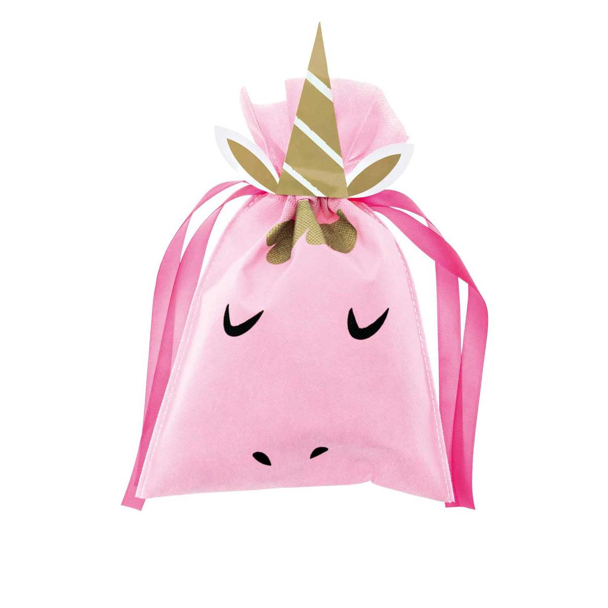 Rico Design Geschenktüte Einhorn rosa 20x30cm