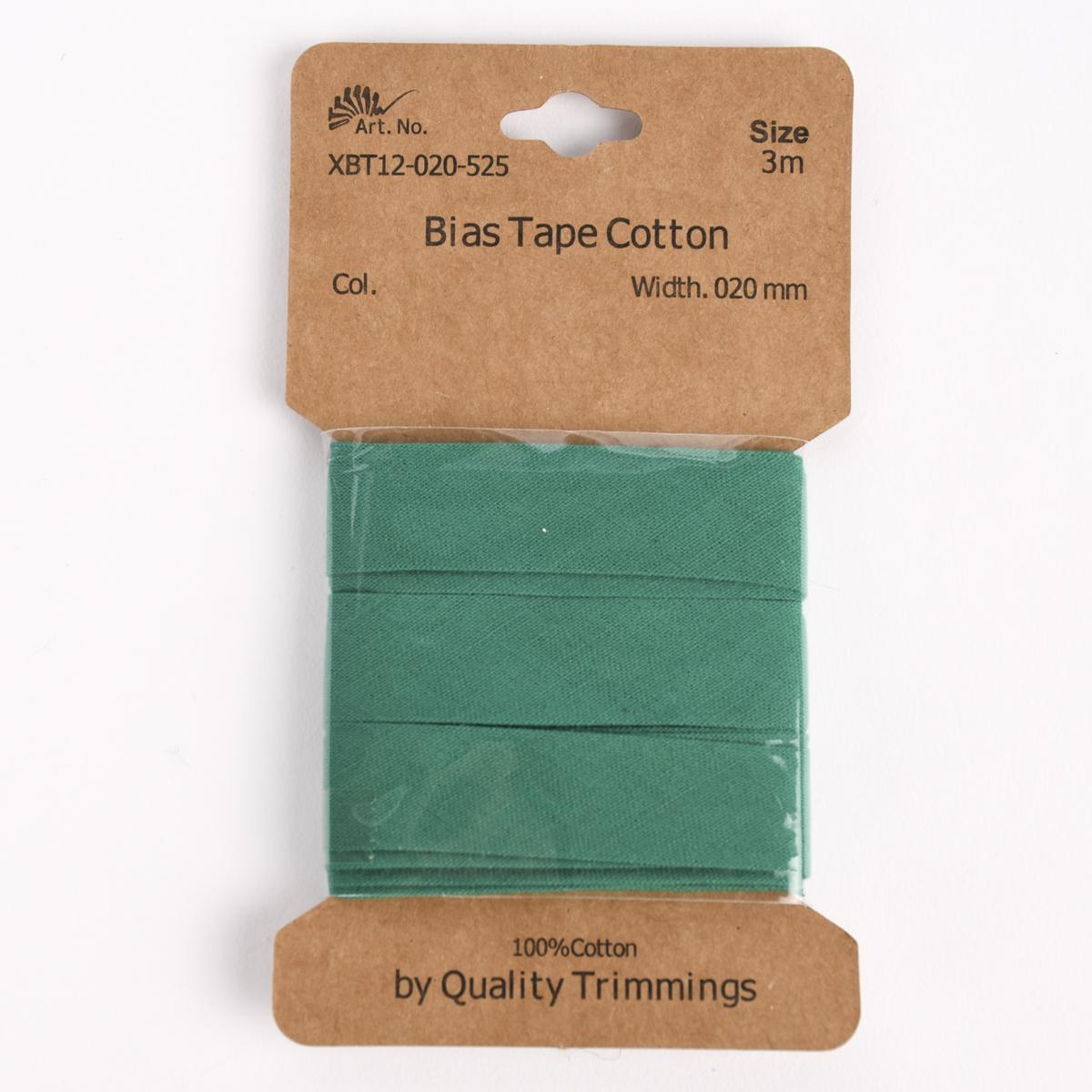 Schrägband Einfassband Baumwolle 20mm uni grasgrün 3m