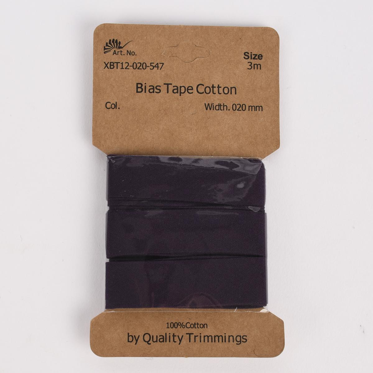 Schrägband Einfassband Baumwolle 20mm uni lila 3m