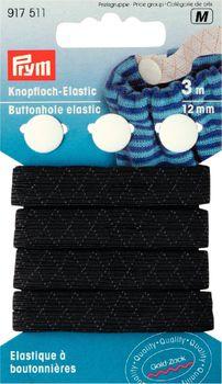 Prym 3m Knopfloch Elastic Gummiband 12mm schwarz