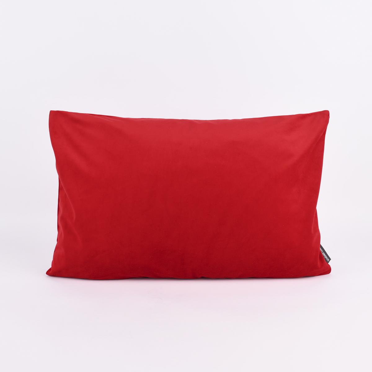 SCHÖNER LEBEN. Kissenhülle Samt einfarbig rot 40x60cm