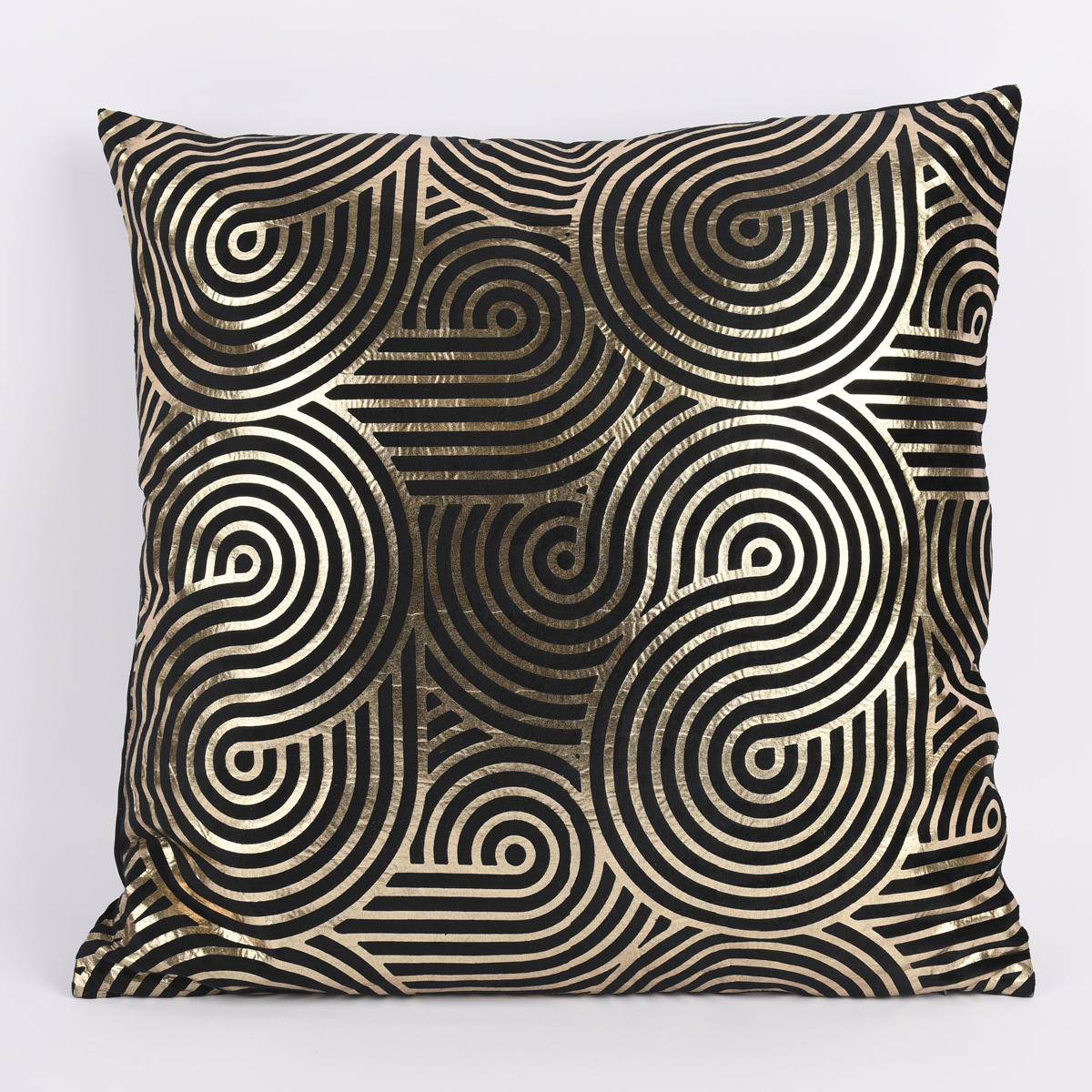 Temerity Jones Deko Kissen Samtoptik schwarz goldfarbig 45x45cm verschiedene Designs