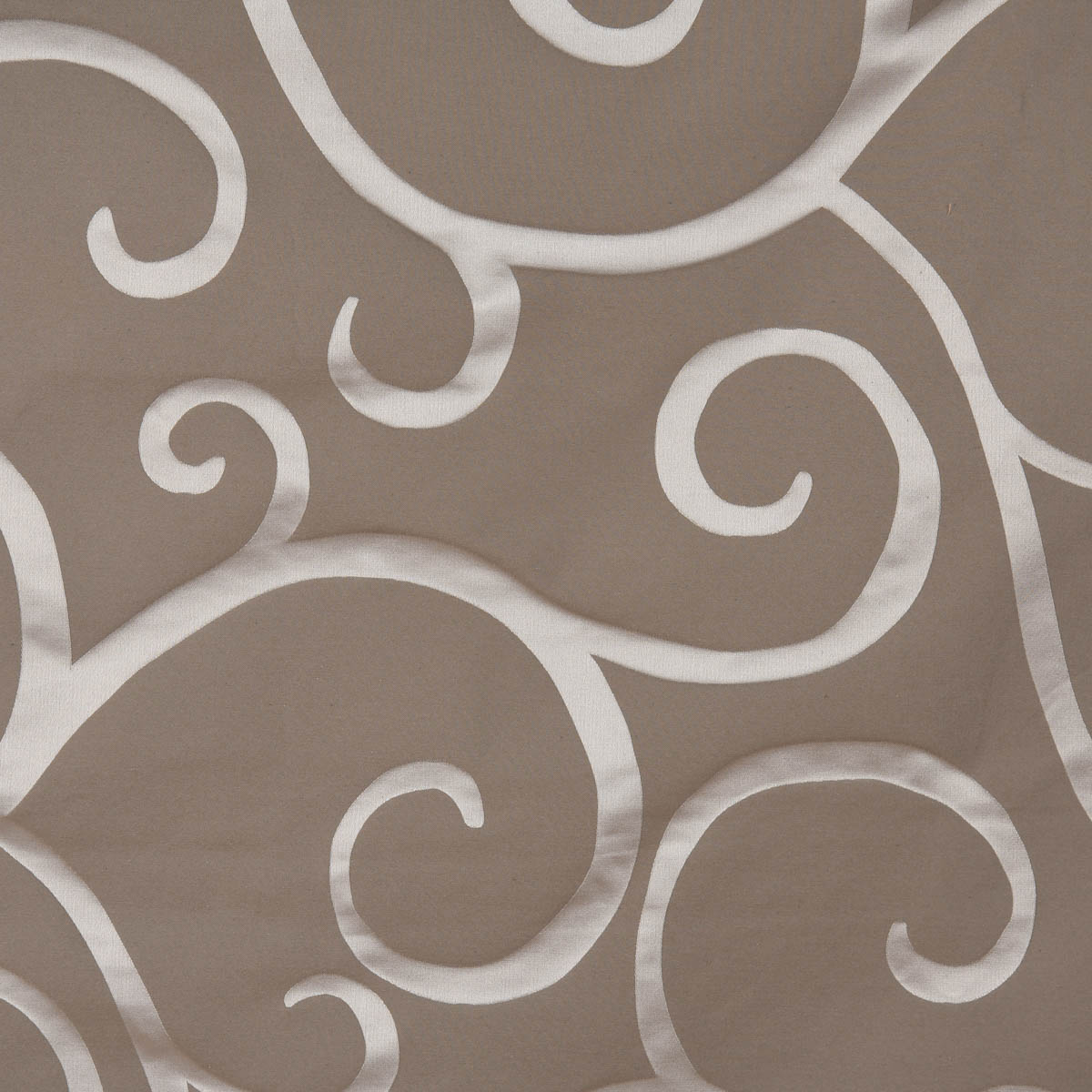 Rasch Textil Dekostoff Gardinenstoff raumhoch Curl Ranken Schnörkel grau 300cm