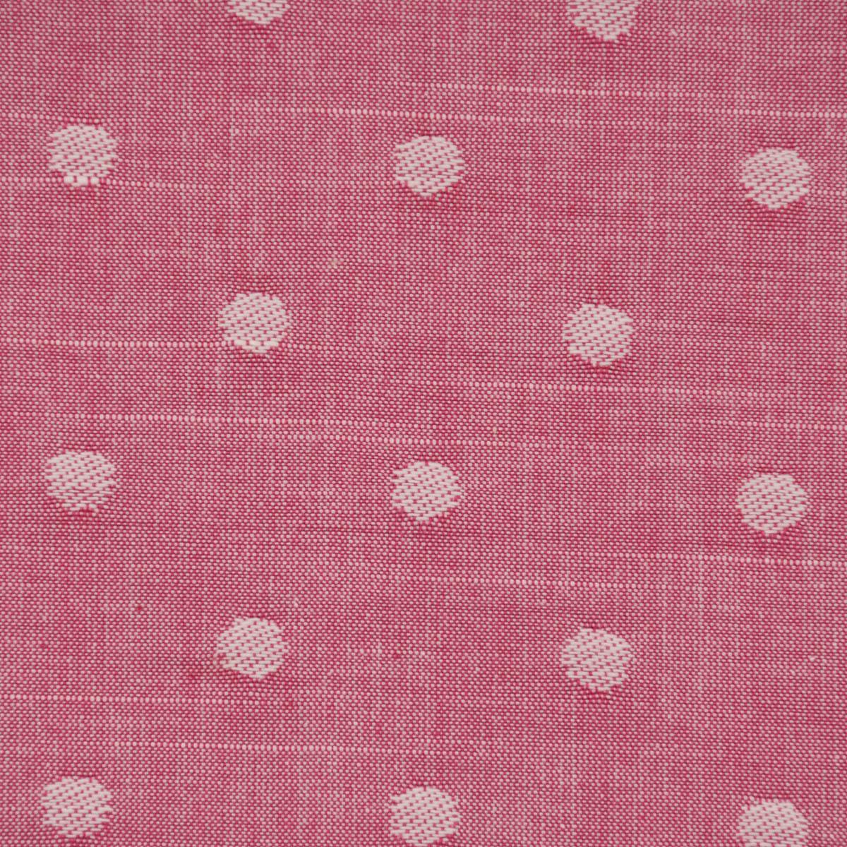 Rasch Textil Dekostoff Baumwollstoff Leinenoptik Bambino Fun Punkte pink 1,40m Breite
