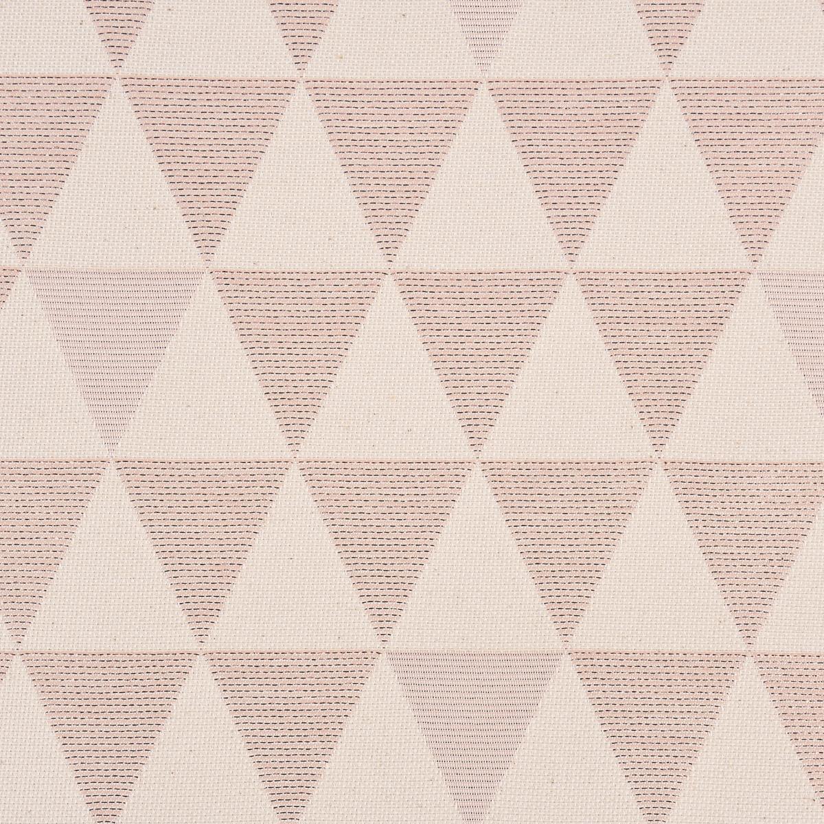 Dekostoff Jacquard Doubleface Premium Metallic Triangel Retro Scandi rosa hellbeige 1,4m Breite