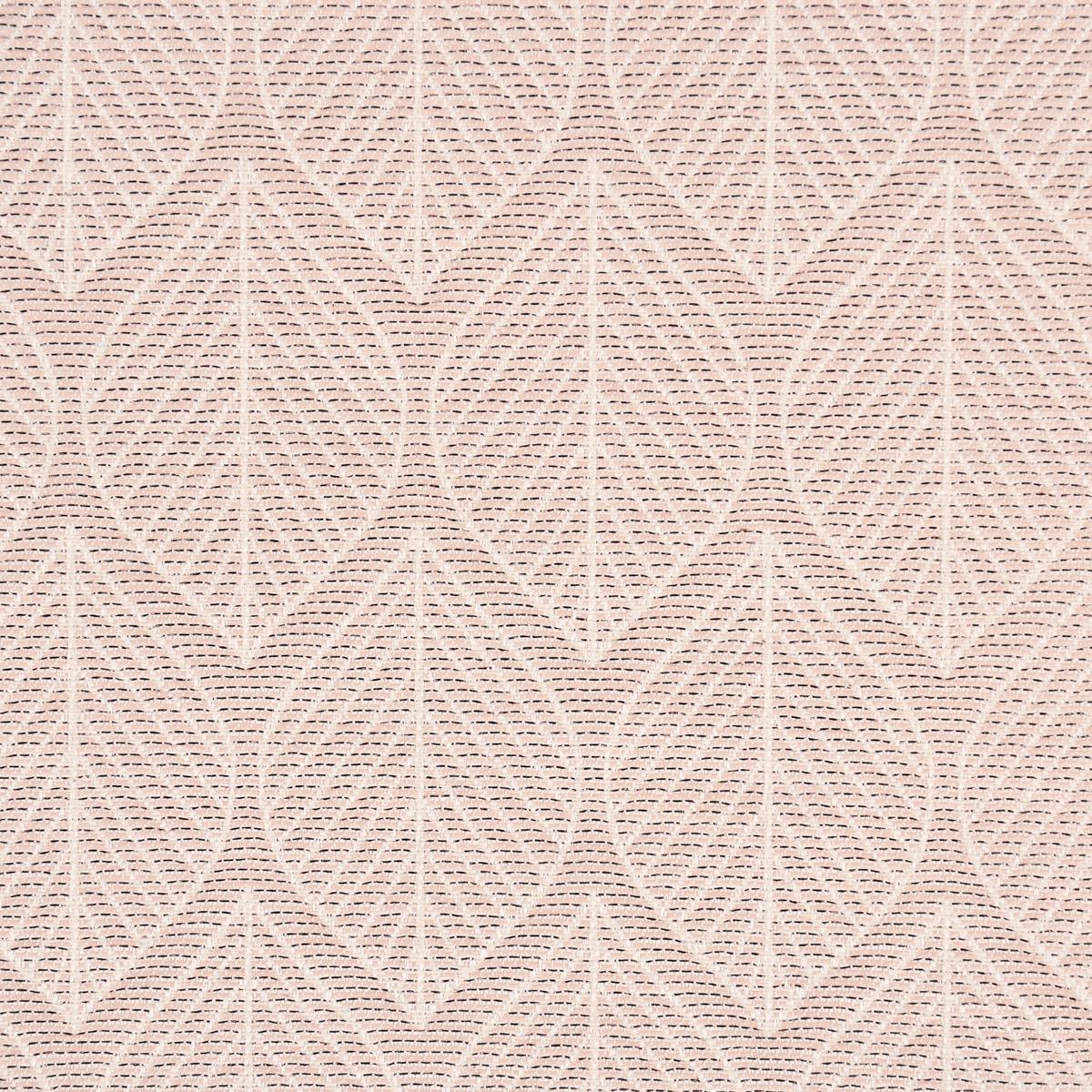 Dekostoff Jacquard Doubleface Premium Metallic Leaf Retro Scandi Blätter rosa beige 1,4m Breite