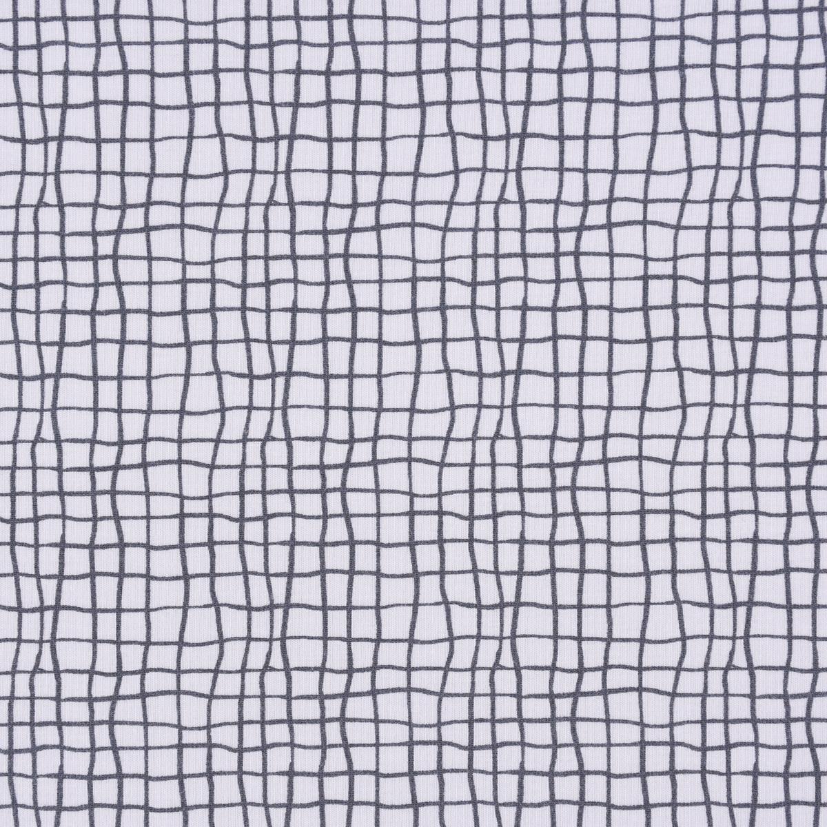 Lillestoff Bio Jersey Monstera Grid Karo Gitternetz weiß anthrazit 1,5m Breite