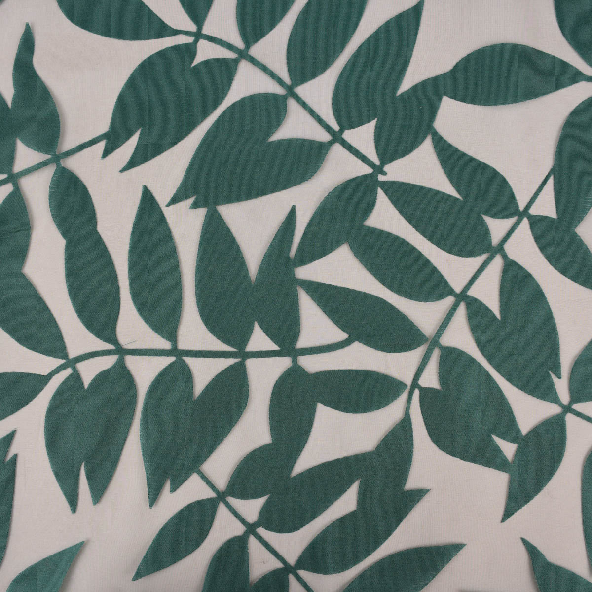 Rasch Textil Gardinenstoff Stores Ausbrenner Sri Lanka Blätter petrol bronze 300cm